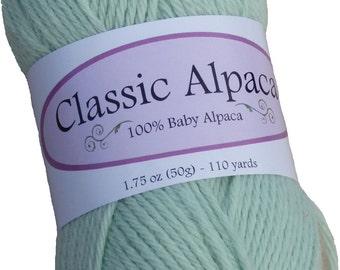 Classic Alpaca 100% Baby Alpaca Yarn #1459 Sprout Green by The Alpaca Yarn Company - 110 yds per 50g