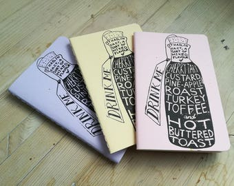 Drink Me (set of THREE notebooks)