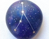 Painted Stone, Cancer Constellation Stone, Zodiac Rock, Hand Painted Rock Art, Astrology Sign, Astronomy Gift, Paperweight Stone