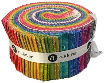 """SALE 20% Off Alison Glass SUN PRINT 2017 Double Scoop 2.5"""" Precut Fabric Quilting Cotton Strips Jelly Roll Andover Fabrics"""