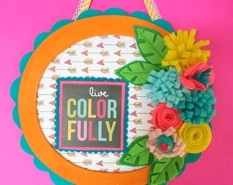 Live ColorFully -- Mixed Media Wall Art