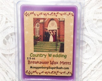 Wax Melts, Country Wedding, Blackberry wax tart melts, clamshell tarts, wedding gift, Moeggenborg Sugar Bush, Blackberry Sage, candle melts