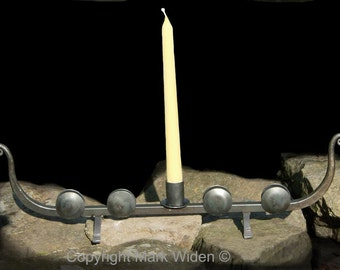 Viking Ship Blacksmithed Ironwork Candle Holder Medieval