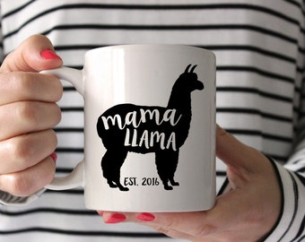 Mama Llama Mug . Christmas Mug for Mom - Gift for New Mom - Personalized Coffee Mug - Gift for mother - like mama bear, but funnier!