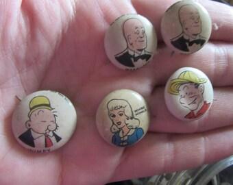 kellogg pep pin back buttons  lot 5