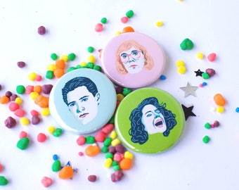 Twin Peaks Badge Pack; Detective Cooper, Log Lady & Donna Hayward