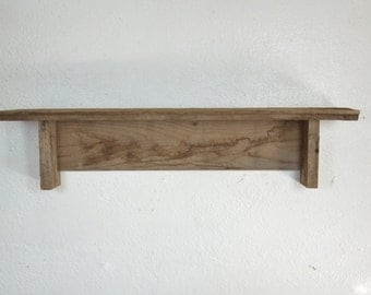 "Rustic shelf from reclaimed wood 24""x5.5""x5.5"""