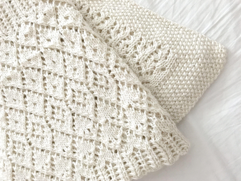 Vintage Lace Knitting Pattern : Lace blanket - Vintage Style Blanket - PDF knitting ...