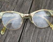 Vintage Eye Brow Browline Eyeglasses by Victory -  Vintage Glasses - Vintage Eyeglasses - Vintage Spectacles (4526-W)