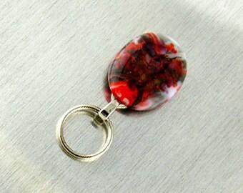Magnetic Badge Holder - Magnetic Eyeglass Holder - Lanyard - Handmade by SantaFe Kiss using lampwork glass