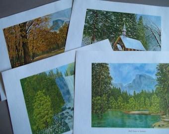 Yosemite Lithographs - The Four Seasons of Yosemite
