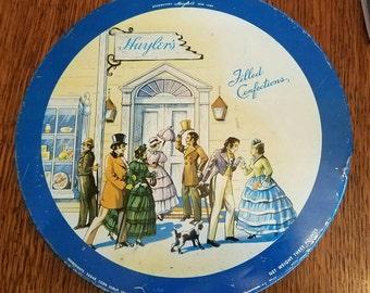 "Vintage 10"" Huyler's candy tin"