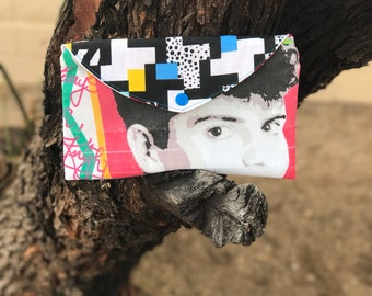 NKOTB New Kids on The Block Envelope Clutch Pouch 80s Retro Inspired Jordan Knight