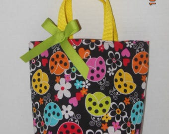 Lady Bugs and Flowers Purse/Gift Bag/Tote