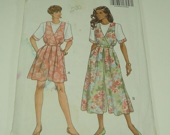 Butterick Fast & Easy Misses' Top And Culottte Dress Pattern 6134 Size 18, 20, 22