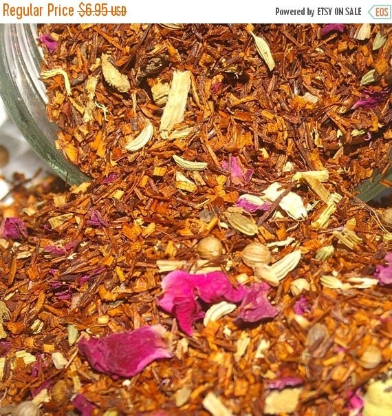 WINTER SALE.... Chai Tea - Ayurvedic Rooibos, Rooibos Tea, Loose Leaf Tea, Herbal Tea, Tea Gift, Cinnamon