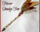 Flower Energy Smudge Fan