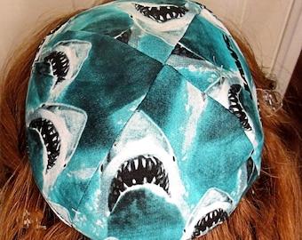Jaws kippah great white sharks yarmulke Jaws the Movie kippah biting sharks  sea life kippah sharks yamaka wild animals toddler or regular