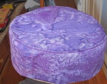 Purple Batik Bucharian kippah elegant all purple Bukkarian yarmulke --great gift for her -- purple lover's kippah