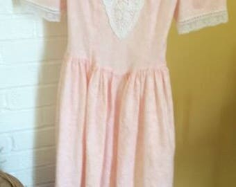 Vintage Gunne Sax Jessica Mcclintock girls size 10 dress Afternoon Tea Party