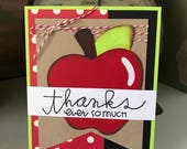 Thank You Ever So Much Teacher Appreciation Card