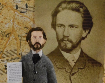 Tchaikovsky MIniature Doll Art Collectible Historical Musician Composer Classical Music