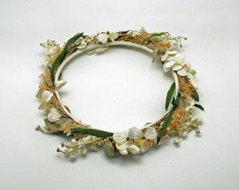 Vintage Flower Wreath Floral Crown Country Wedding