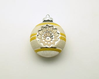 Vintage Christmas Ornament Glass Shiny Brite Mid Century Indents Christmas Decoration