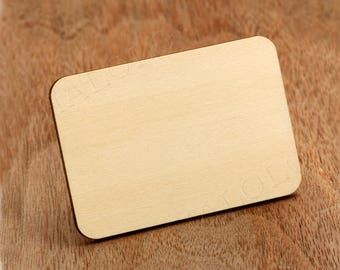 20 pcs Round Coner Wooden Cards,Wooden Blanks,Business Cards,Tags (WC 138)