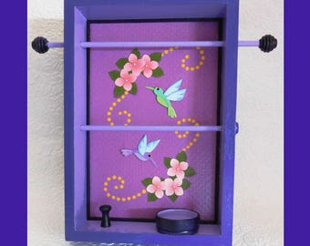 Purple Tabletop Jewelry Holder, Jewelry Organizer, Jewelry Storage, Jewelry Rack, Jewelry Display, Jewelry Hanger, Unique Gift, Mothers Day