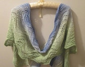 ON SALE Summer Meadow Silk/Wool Lace Scarf/Stole with Shawl Stick