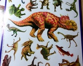 Reserved for Chandra Awesome Dinosaur Stickers Large Small Ephemera Scrapbooking Cards Tags Birthday Boy Girl Unisex DIY