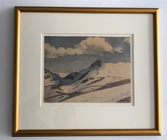 1919 Rockwell Kent Original Watercolor - Fox Island, Alaska