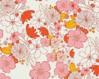 ON SALE Meadow Leah's Bloom Blush - 1/2 Yard