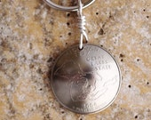 State Quarter Keychain, Michigan, 2004, Great Lakes Key Ring, Key Fob by Hendywood KCE33