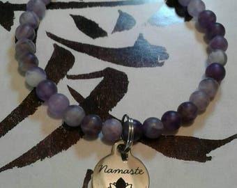Buddha Amethyst Nasmaste Bracelet