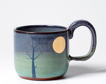 Lighter Gold Moon & Tree Mug