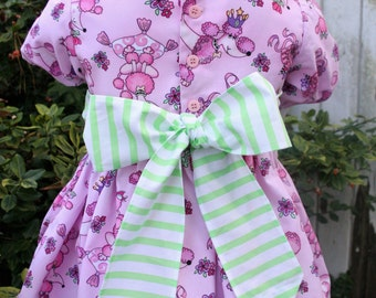 Kids Dresses/3T Dress/Bow Dress/Princess Dress/Pink Dress/Childrens Clothing/Puff Sleeve Dress/Ruffle Dress/Animal Print Dress/Twirl Dress/