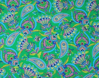 4303 - Paisley Floral Cotton Fabric - 59 Inch (Width) x 1/2 Yard (Length)