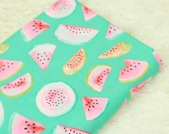 4444 - Watermelon Poplin Cotton Fabric - 55 Inch (Width) x 1/2 Yard (Length)