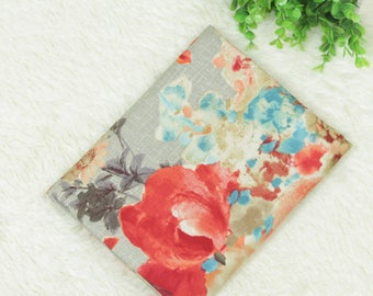 4589 - Watercolor Floral Cotton Canvas Fabric - 55 Inch (Width) x 1/2 Yard (Length)