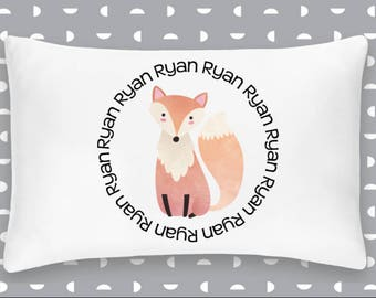 Personalized Fox Pillowcase Home Decor Bedding Bed Woodland Nursery