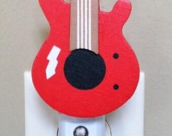 Guitar Night Light, Guitar Nursery Light, Music Night Light, Musical instrument Theme, Rock and Roll