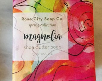 Magnolia Shea Butter Soap | Spring Soap Collection | Soaps For Men and Women