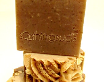 Oatmeal Milk and Honey - Handmade SILK & Shea Butter soap, Artisan Gourmet Soap, Soothing Suds Handmade Soap