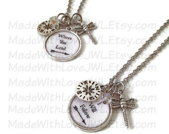 Pair of Gilmore Girls Inspired Best Friends Necklaces w/ Charms
