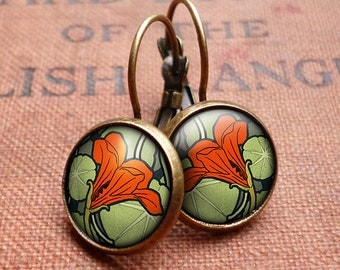 Nasturtium Leverback Earrings (AN01)