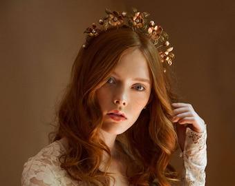 Wedding headpiece, bridal floral crown, tiara - Rose of Sharon no. 2219