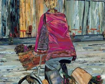 Spring Sale-Parisian Girl on a Bike