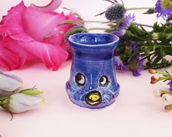 Blue Bird Shotglass or Bud Vase